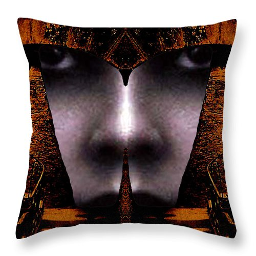 Scottish Art Throw Pillow featuring the digital art Bouillon Girl by Rodger Insh