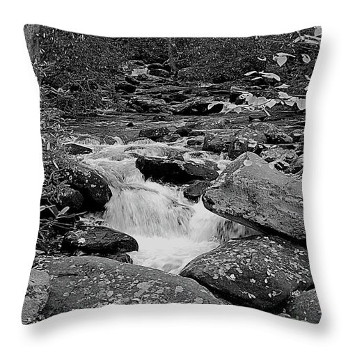 Rocks Throw Pillow featuring the digital art Boulder Creek by DigiArt Diaries by Vicky B Fuller