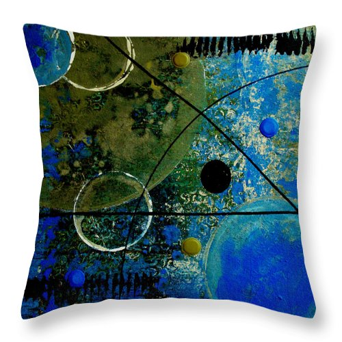 Abstract Throw Pillow featuring the painting Bouncer by Ruth Palmer