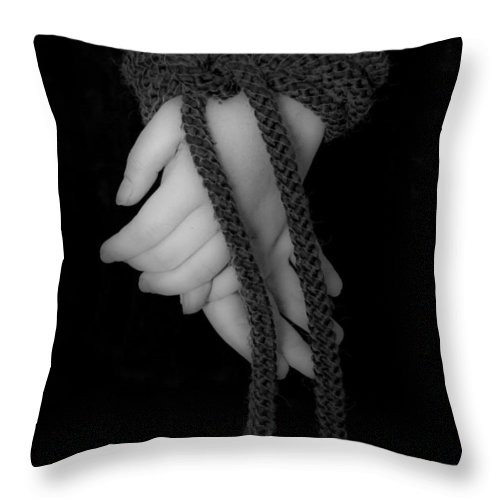 Hand Throw Pillow featuring the photograph Bound Hands by Joana Kruse