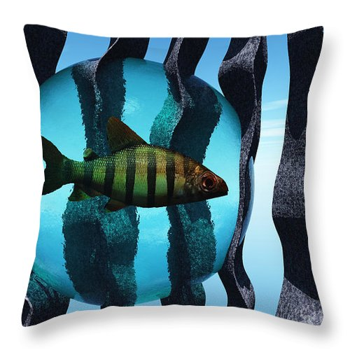 Surreal Throw Pillow featuring the digital art Bound by Richard Rizzo