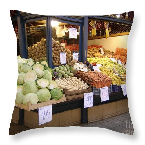 Food Throw Pillow featuring the photograph Bountiful by Mary Rogers