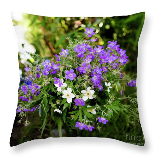 Flower Throw Pillow featuring the photograph Bouquet by Edward Nekrasov