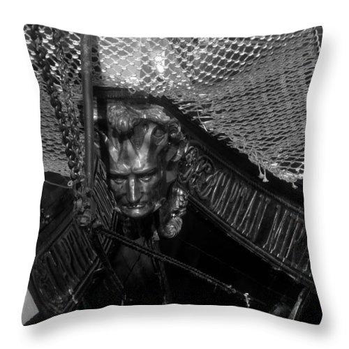 Captain Miranda Throw Pillow featuring the photograph Bow Of The Captain Miranda by David Lee Thompson