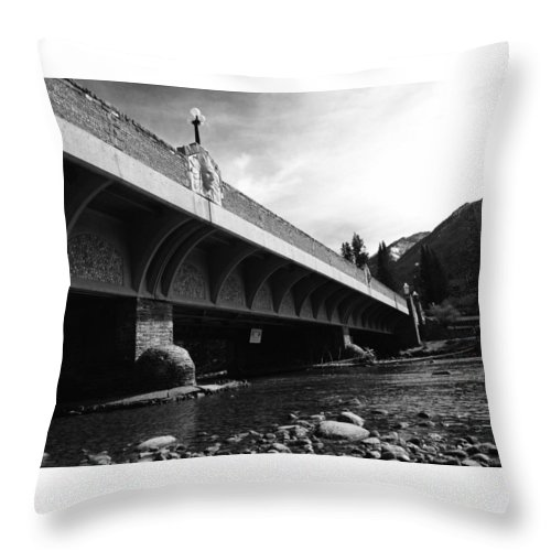 Photography Throw Pillow featuring the photograph Bow River Bridge by Brittney Norton
