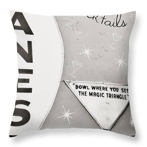 Asbury Throw Pillow featuring the photograph Bowl Where You See The Magic Triangle by Jeff Adkins