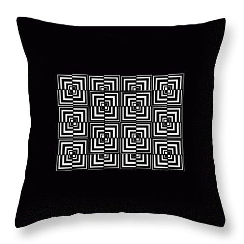 Art Throw Pillow featuring the digital art 17 D Interdimensional by Rick Elam