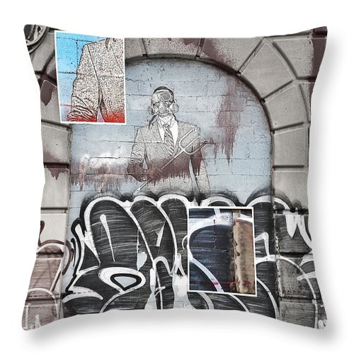 Hygienic Dress League Throw Pillow featuring the digital art Boxed by 2141 Photography