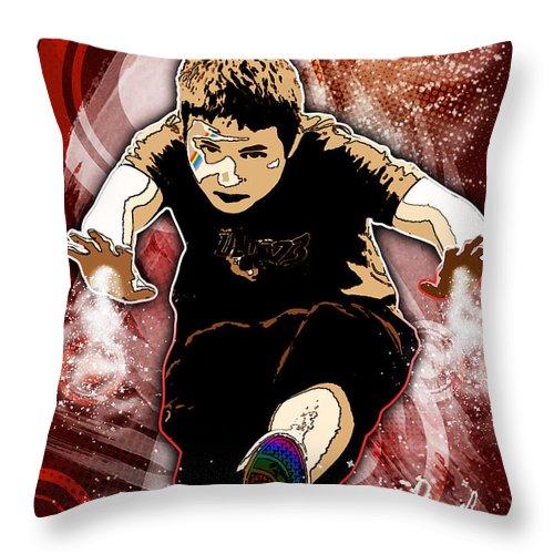 3d Throw Pillow featuring the digital art Boy by Svetlana Sewell