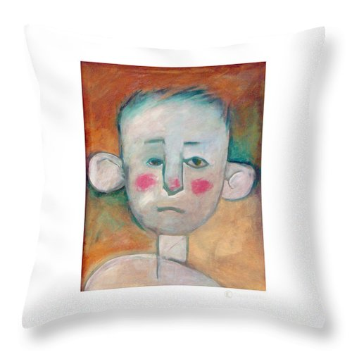 Boy Throw Pillow featuring the painting Boy by Tim Nyberg