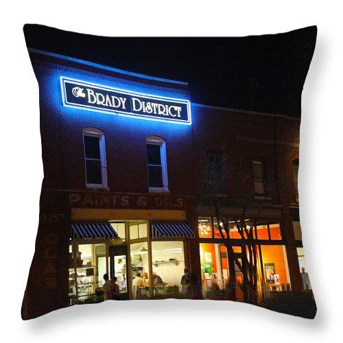 Susan Vineyard Throw Pillow featuring the photograph Brady District by Susan Vineyard