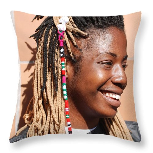 People Throw Pillow featuring the photograph Braided Lady by Rob Hans