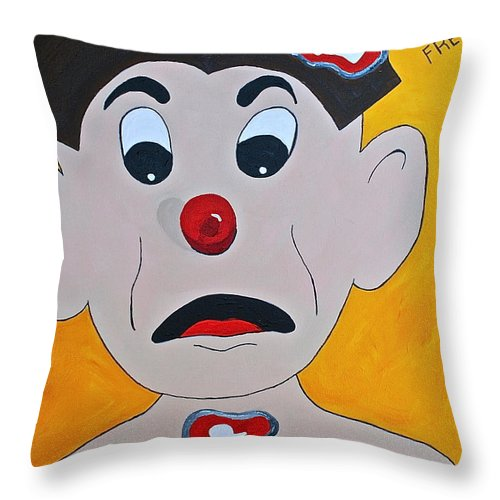 Operation Kids Gams Kids Toys Old Toys Throw Pillow featuring the painting Brain Freeze by Herschel Fall