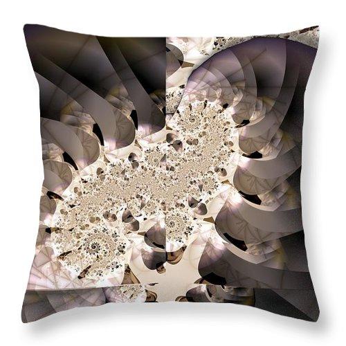 Brain Stem Throw Pillow featuring the digital art Brain Stem by Ron Bissett