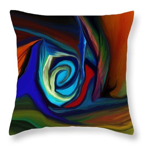 Fine Art.abstract Throw Pillow featuring the digital art Brain Storm by David Lane