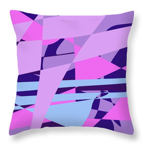 Abstract Throw Pillow featuring the digital art Brain Storming by Laura Greco