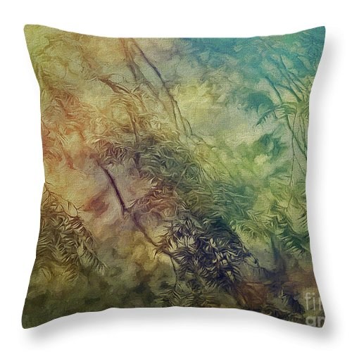 Branches Throw Pillow featuring the photograph Branches by Leigh Kemp