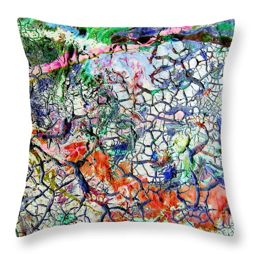 Branches Throw Pillow featuring the painting Branches Of Life by Dawn Hough Sebaugh