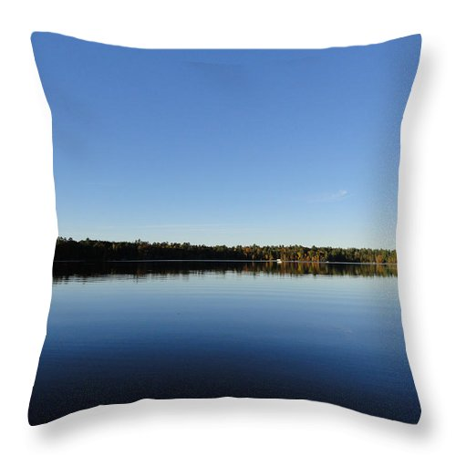 Lakes Throw Pillow featuring the photograph Brandy Lake by Sue Duda