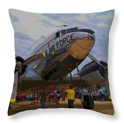 Airport Throw Pillow featuring the photograph Branson Airshow 2009 by Julie Grace