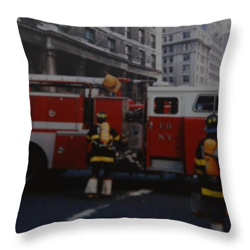 Fdny Throw Pillow featuring the photograph Bravest Of The Brave by Rob Hans