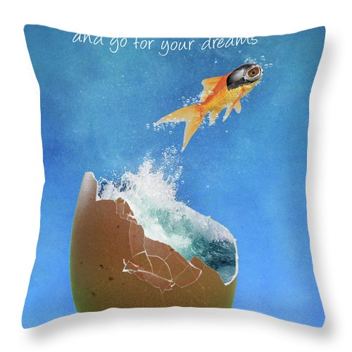 Aviator Goggles Throw Pillow featuring the photograph Break Free by Juli Scalzi