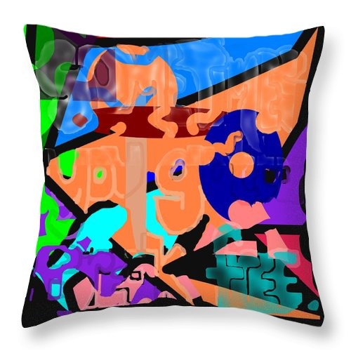 Free Throw Pillow featuring the digital art Break Free by Pharris Art