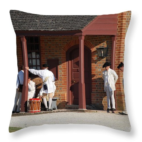 Williamsburg Throw Pillow featuring the photograph Break Time by Eric Liller