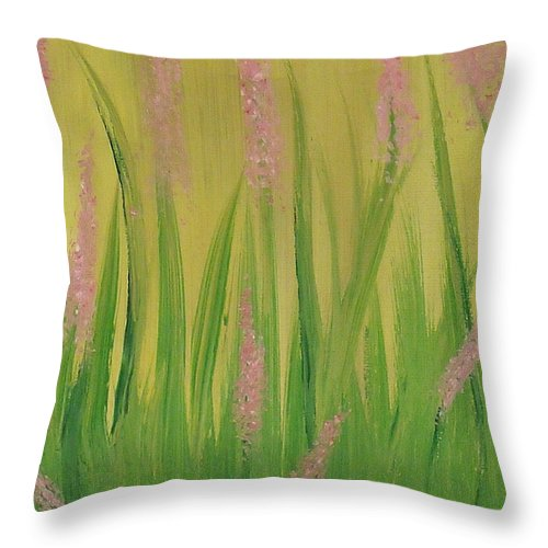 Flowers Throw Pillow featuring the painting Breaking Ground by Steve Cochran