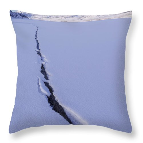Breaking Ice Throw Pillow featuring the photograph Breaking Ice by Chad Dutson