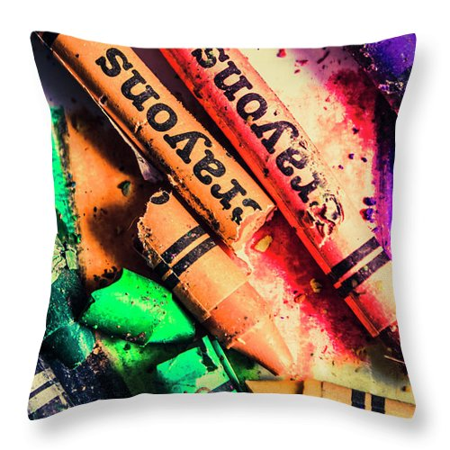 School Throw Pillow featuring the photograph Breaking The Creative Spectrum by Jorgo Photography - Wall Art Gallery
