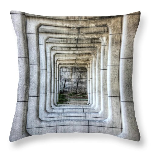 Abstract Throw Pillow featuring the photograph Breaking Through The Forth Wall by David LaSpina