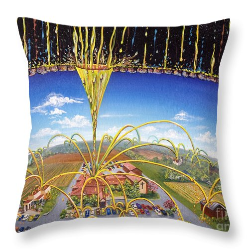 Jesus Throw Pillow featuring the painting Breakthrough by Nancy Cupp