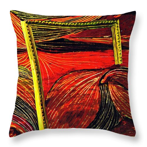 Wave Throw Pillow featuring the mixed media Breakthrough by Sarah Loft