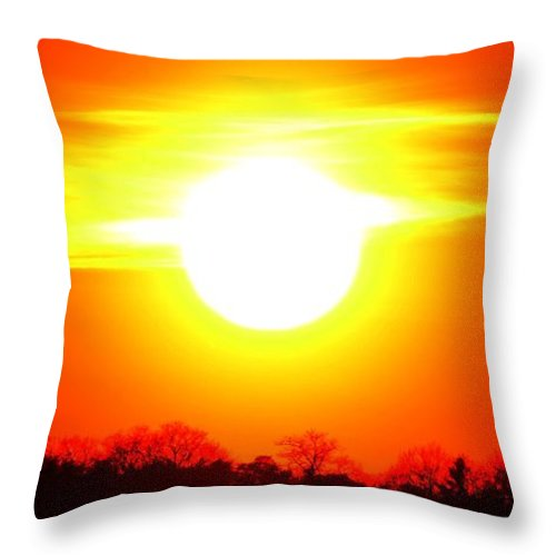 Abstract Throw Pillow featuring the photograph Breakthrough Three by Lyle Crump