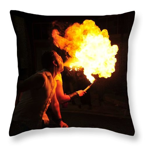 Fire Throw Pillow featuring the photograph Breath Of Fire by David Lee Thompson