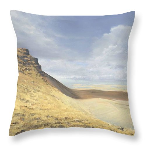 Brecon Beacons Throw Pillow featuring the painting Brecon Beacons by Richard Picton