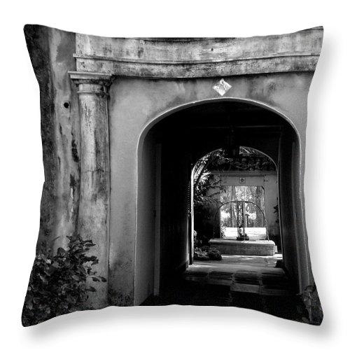 Breezeway Throw Pillow featuring the photograph Breezeway by Deborah Crew-Johnson