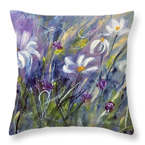 Painting Throw Pillow featuring the painting Breezing Along  by Karen Day-Vath