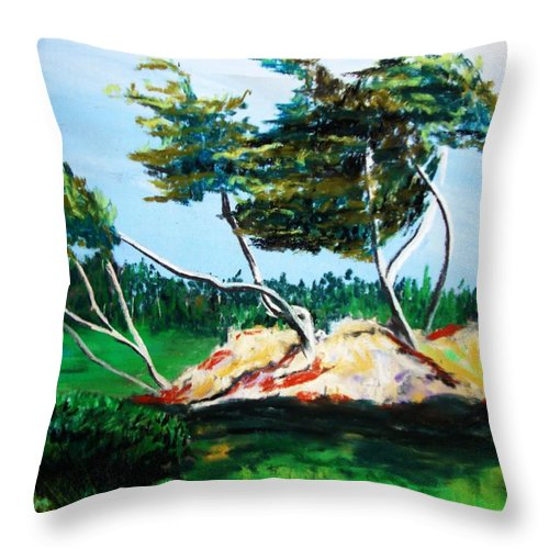California Throw Pillow featuring the painting Breezy by Melinda Etzold