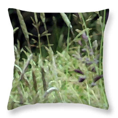 Grass Throw Pillow featuring the photograph Breezy Summer 4 by Kim Tran