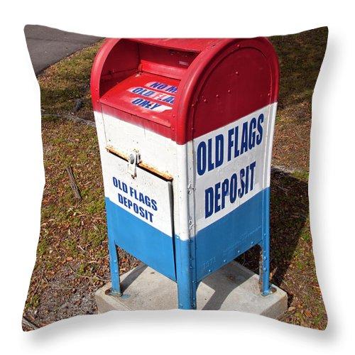 American Throw Pillow featuring the photograph Brevard Veterans Memorial Center On Merritt Island Florida by Allan Hughes