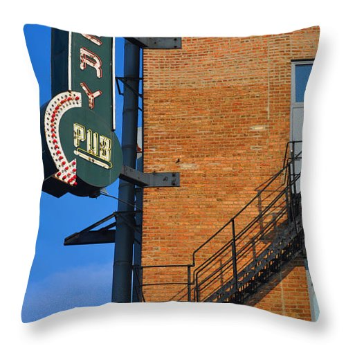 Chicago Throw Pillow featuring the photograph Brewery Pub by Tim Nyberg