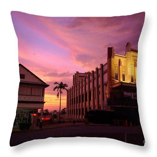 Evening Throw Pillow featuring the photograph Brewing Storm by Kerryn Madsen- Pietsch
