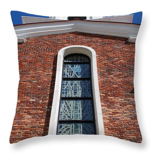 Architecture Throw Pillow featuring the photograph Brick Church by Rob Hans