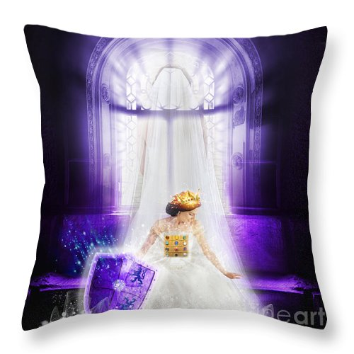 Bride Throw Pillow featuring the digital art Bride by Esther Eunjoo Jun