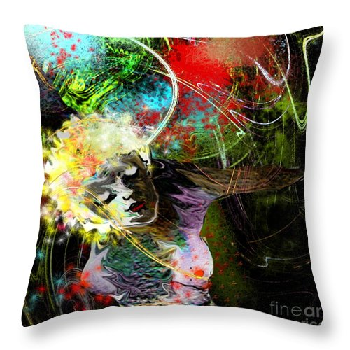 Fantasy Throw Pillow featuring the painting Bride Of Halos by Miki De Goodaboom