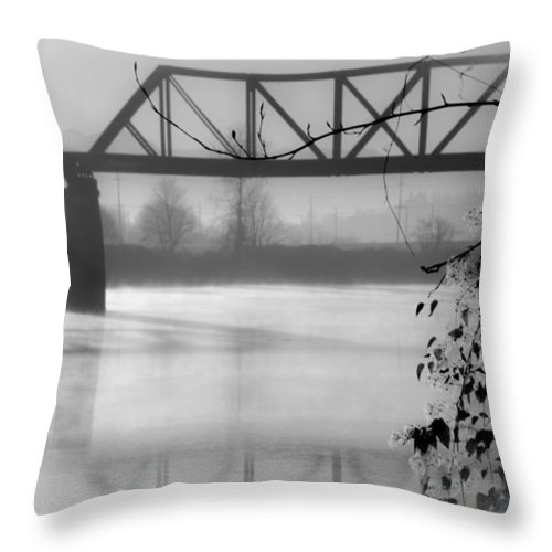 Bridge Throw Pillow featuring the photograph Bridge Over River by Trina Huston