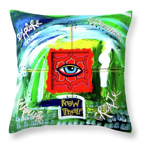 Gallery Throw Pillow featuring the painting Bridge Over Wise by Dar Freeland