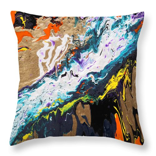 Fusionart Throw Pillow featuring the painting Bridge by Ralph White